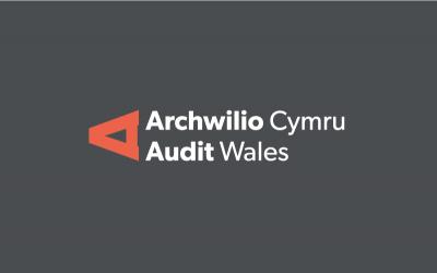 Logo Archwilio Cymru